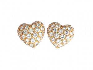 Vintage 1980s Cartier Vintage Heart Earrings