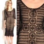 vintage 1990s crochet dress