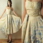 vintage 1950s tina leser summer dress