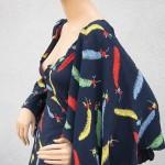 vintage ossie clark celia birtwell print dress