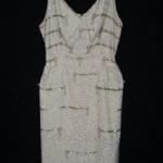 vintage 1960s white beaded dress