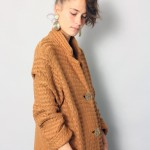 Vintage 1970s Long Knitted Cardigan Sweater Coat