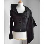 vintage 1990s galliano sculpted wool jacket