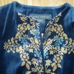 vintage laura ashley embroidered velvet tunic jacket