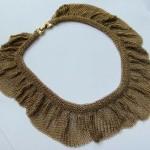 vintage chainmetal mesh choker necklace