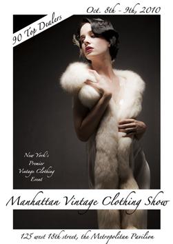 manhattan vintage clothing flyer