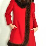 vintage coat with fur trim
