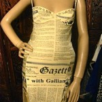 Vintage 1980s galliano newsprint dress
