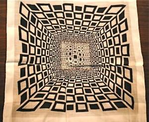vintage op art handkerchief