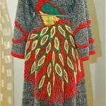 vintage peacock robe