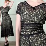 vintage 1940s lace dress