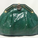 vintage judith leiber python clutch handbag