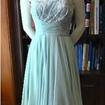 vintage ceil chapman lace and chiffon cocktail dress
