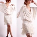 vintage 1980s fringe dress