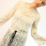 vintage 1960s lace tunic top