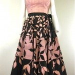vintage 1950s mexican skirt and top