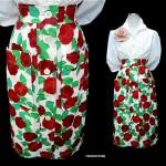 vintage ysl floral skirt