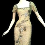 vintage 1950s beaded knit dress
