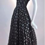 vintage 1950s ceil chapman silk organza party dress