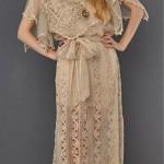 vintage 1970s crochet dress