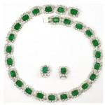 vintage christian dior henkel & grosse necklace and earrings