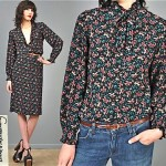 vintage 1970s diane von furstenberg skirt and blouse set