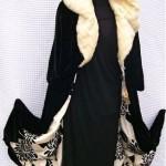 vintage velvet coat with ermine trim