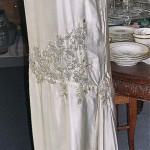 vintage 1920s flapper silk satin beaded wedding dress
