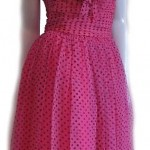 vintage 1980s lanvin strapless polka dot dress