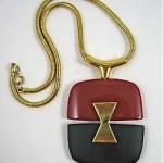 vintage lanvin pendant necklace