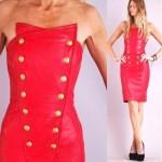 vintage north beach leather dress