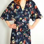vintage 1940s floral dress