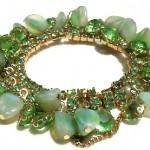 vintage juliana glass and rhinestone bracelet