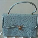 vintage lucille de paris ostrich handbag