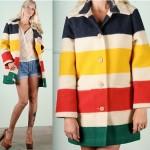 vintage pendleton wool striped pea coat