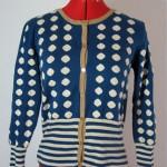 vintage 1940s/50s polka dot cardigan