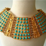 vintage egyptian collar necklace