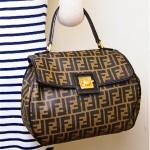vintage fendi logo alexa handbag