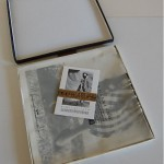 vintage 1988 galliano boxed scarf and postcards