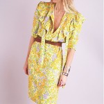 vintage givenchy silk floral tie ruffle dress