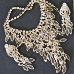 vintage juliana crystal necklace and earrings