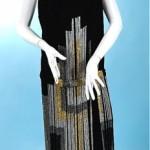 vintage 1920 art deco beaded velvet flapper dress