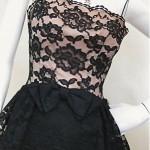 vintage 1960s lace cocktail dress