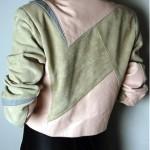 vintage 1980s wilsons patchwork racer jacket