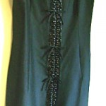 vintage christian dior beaded little black dress