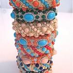 vintage complete set of 9 kenneth jay lane grace collection bracelets