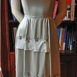 vintage harvey berin satin cocktail dress