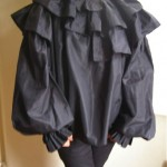 vintage lanvin silk ruffle blouse