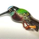 vintage takahashi hummingbird pin