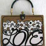 vintage enid collins wooden purse